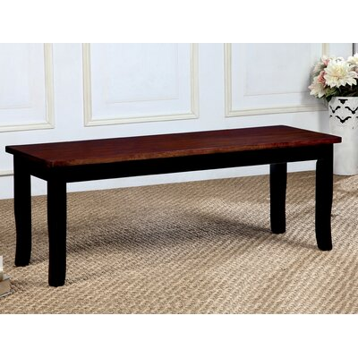 Marilou Wood Dining Bench Color: Black