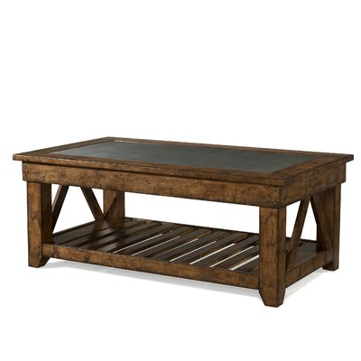 Peatman Rectangular Coffee Table with Magazine Rack