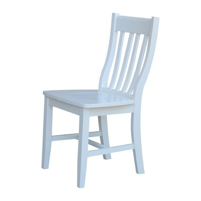 Toby Traditional Solid Wood Dining Chair Finish: White