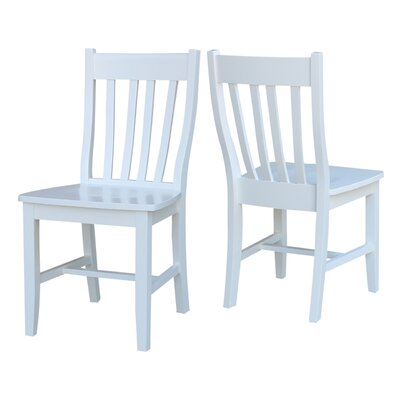 Imogene Solid Wood Dining Chair Finish: White