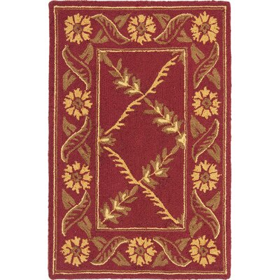 Pipers Red Area Rug Rug Size: 86 x 116