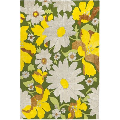 Pipers Yellow/Beige Area Rug Rug Size: Rectangle 5 x 8