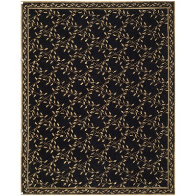 Pipers Black / Green Area Rug Rug Size: 79 x 99