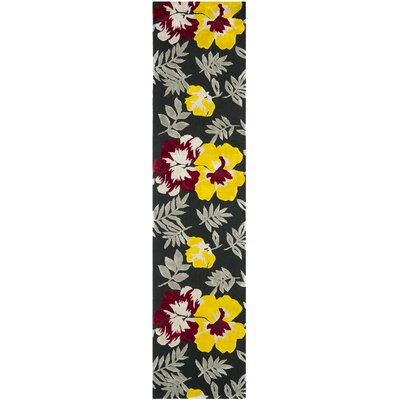 Pipers Black/ Yellow Area Rug Rug Size: Runner 23 x 10