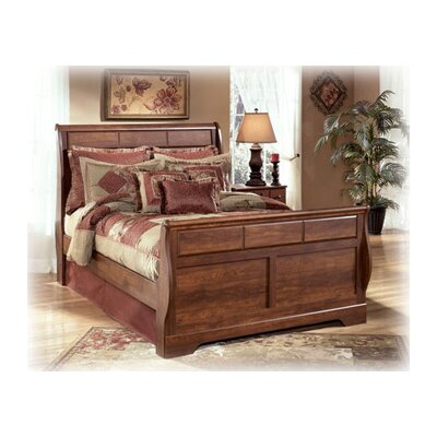 Elle Sleigh Bed Rails in Brown Cherry Size: Queen