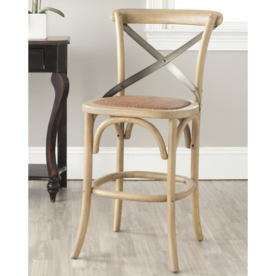 Madelynn 24.4 inch Bar Stool Frame Finish: Weathered Oak