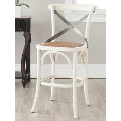 Madelynn 24.4 inch Bar Stool Frame Finish: Ivory