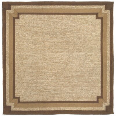 Dazey Natural Border Outdoor Rug Rug Size: Square 8