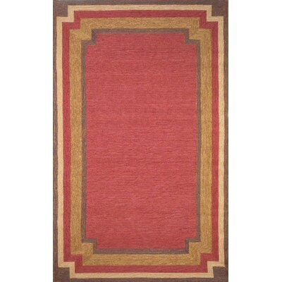 Dazey Red Border Outdoor Rug Rug Size: 2 x 3