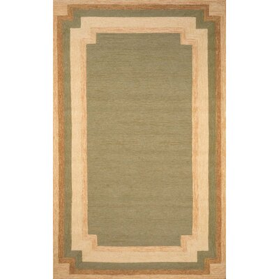 Dazey Hand-Tufted Green/Beige Indoor/Outdoor Area Rug Rug Size: Rectangle 36 x  56