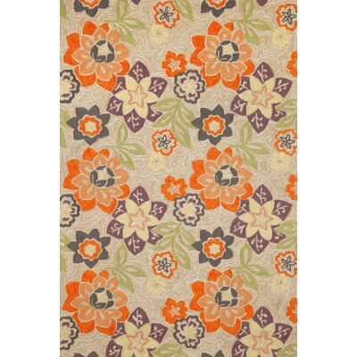 Dazey Purple Floral Outdoor Area Rug Rug Size: 83 x 116