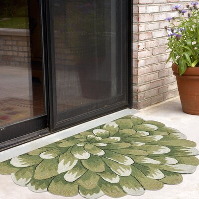 Ismay Hand-Tufted Green Indoor/Outdoor Area Rug Rug Size: 18 x 26