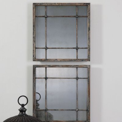 2 Piece Square Wall Mirror Set