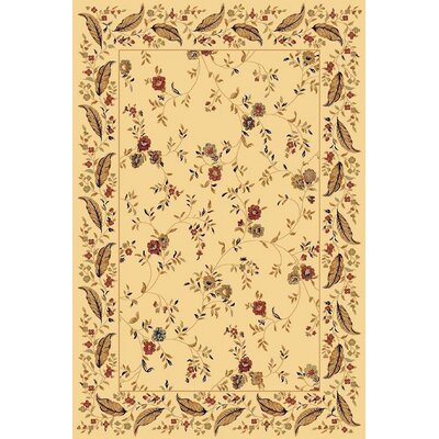 Rindge Cream Area Rug Rug Size: Rectangle 33 x 53