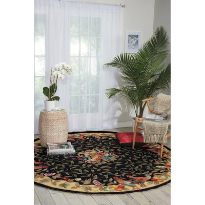 Chatelaine Hand-Tufted Black/Yellow Area Rug