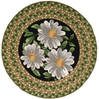 Chatelaine Hand-Tufted Black/Green Area Rug