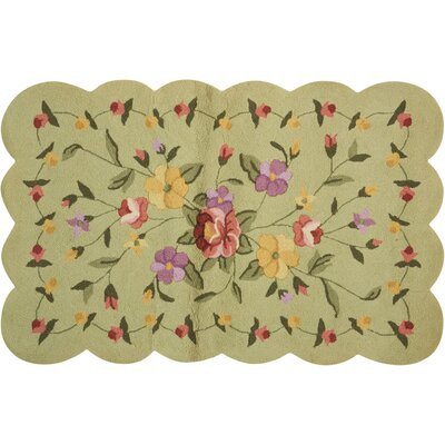 Chatelaine Hand-Tufted Green Area Rug
