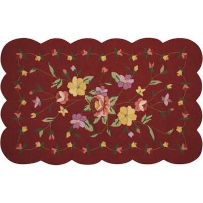 Chatelaine Hand-Tufted Red Area Rug