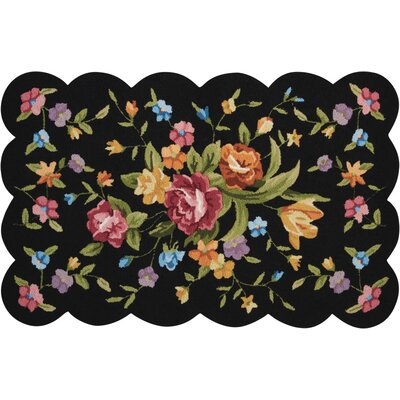Chatelaine Hand-Tufted Black Area Rug