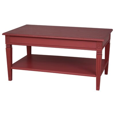 Madison Indoor 2 Tier Coffee Table Finish: Antique Red