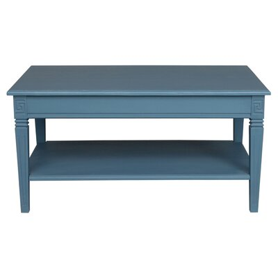 Saire Indoor 2 Tier Coffee Table Finish: Antique Blue
