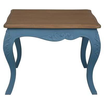 Madison Painted Wood End Table Color: Antique Blue