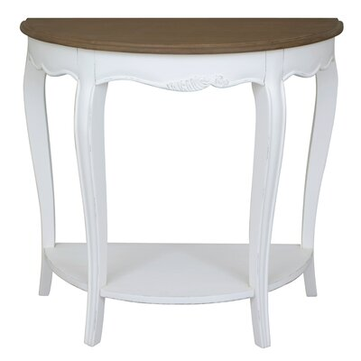 Madison Half-Moon Console Table Color: Atique White
