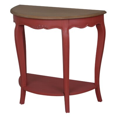 Madison Half-Moon Console Table Color: Antique Red