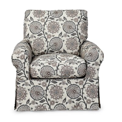 Callie Slipcovered Swivel Armchair