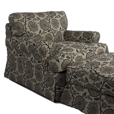 Callie Slipcovered Armchair and Ottoman