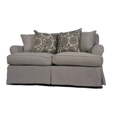 Callie Slipcovered Loveseat