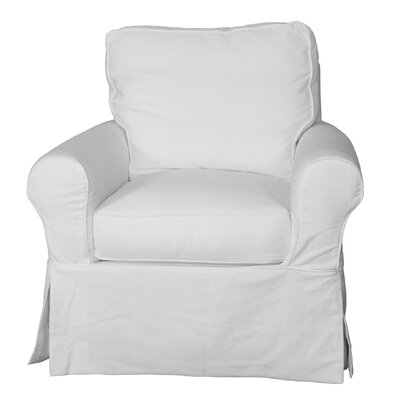 Callie Slipcovered Swivel Armchair Upholstery: Warm White