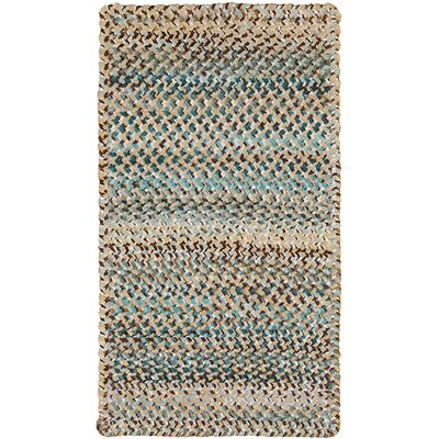 Wilhelmine Deep Blue Area Rug Rug Size: Oval 23 x 4