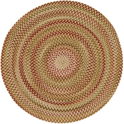 Holcombe Gold Hues Area Rug Rug Size: Round 13