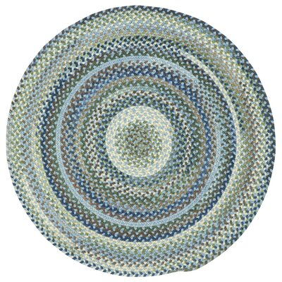 Holcombe Light Blue Area Rug Rug Size: Round 76