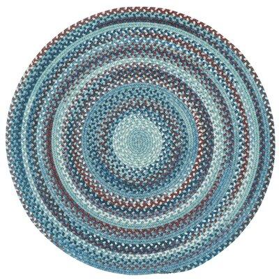 Phoebel Blue Variegated Rug Rug Size: Round 13