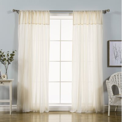 August Grove Duluth Solid Sheer Rod Pocket Curtain Panels