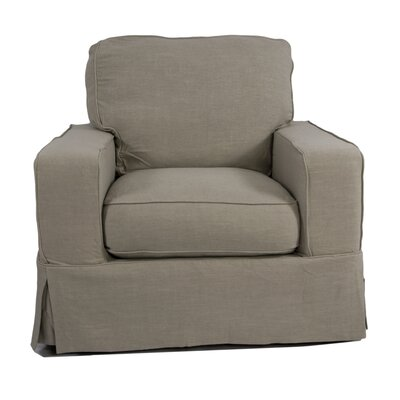 Columbus Box Cushion Armchair Slipcover