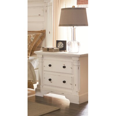 Findlay 2 Drawer Nightstand Finish: Aged White