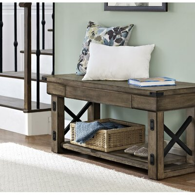 Irwin Wood Storage Entryway Bench