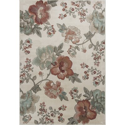 Laurentides Ivory Florea Area Rug Rug Size: Rectangle 77 x 1010