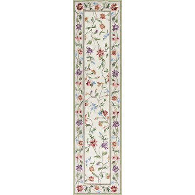 Labrosse Ivory / White Floral Area Rug Rug Size: Runner 2 x 8