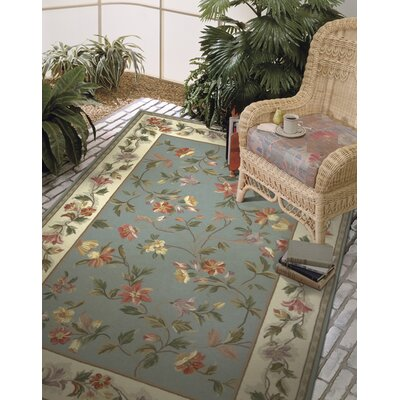 Labrosse Slate Blue / Ivory Floral Area Rug Rug Size: Rectangle 8 x 106