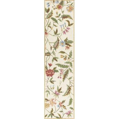 Labrosse Ivory Floral Area Rug Rug Size: Runner 2 x 8