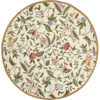 Labrosse Ivory Floral Area Rug Rug Size: Rectangle 53 x 83