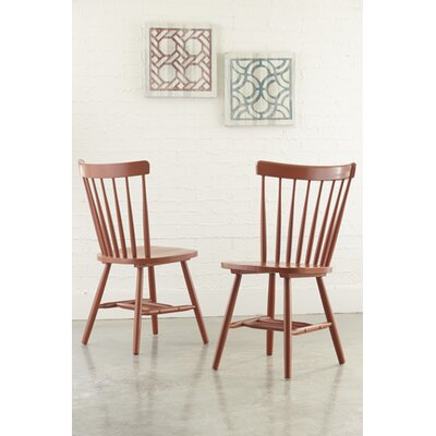 Jessamine Solid Wood Dining Chair (Set of 2) Finish: Gold