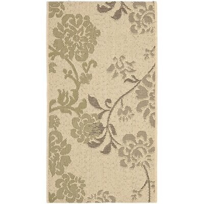 Laurel Natural Brown/Olive Outdoor Rug Rug Size: Rectangle 2'7