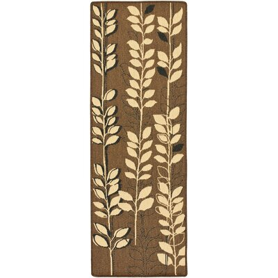 Laurel Brown Natural/Black Rug Rug Size: Runner 24 x 67