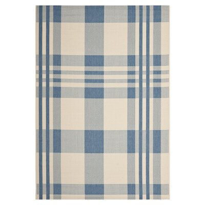 Frazier Beige/Blue Indoor/Outdoor Area Rug Rug Size: Rectangle 9 x 12
