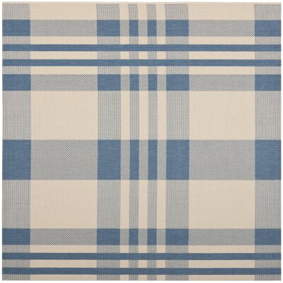Frazier Beige/Blue Indoor/Outdoor Area Rug Rug Size: Square 67